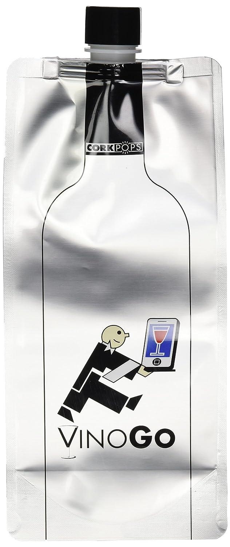 Silver Cork Pops 80111 VinOGo Mylar Wine Pouch