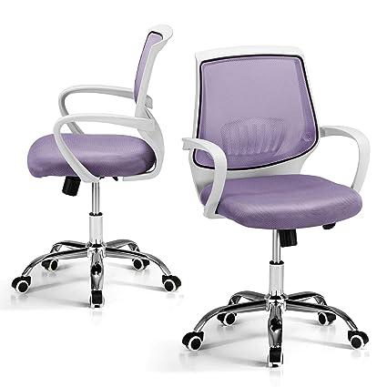 Sedie Da Ufficio Mondo Convenienza.Mondo Convenienza Granada Sedia Con Braccioli Colore Malva E