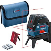 Bosch Professional korslinjelaser GCL 2-15 (röd laser, med lodpunkter, arbetsområde: 15 m, 3 x AA-batterier, roterande…