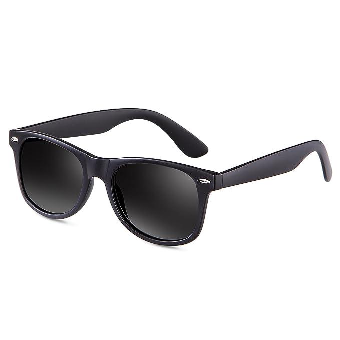 a646b198ad Feidu - Gafas de sol - para hombre (Negro Mate): Amazon.es: Ropa y ...