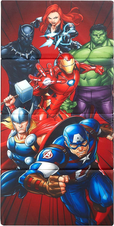 Idea Nuova Marvel Avengers Kids Accordion Folding Portable Nap Mat, 44