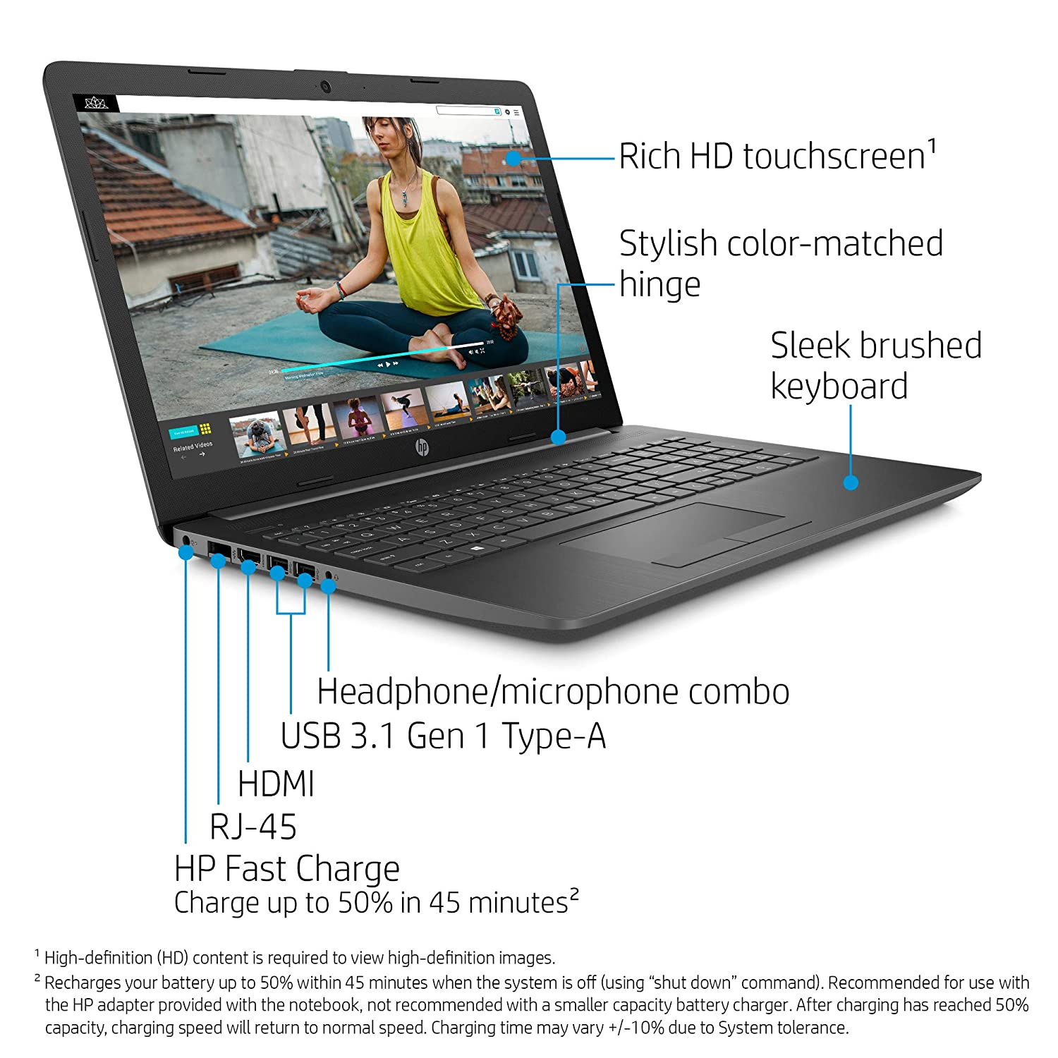 Amazon.com: HP 15-Inch Laptop, AMD Ryzen 3 3200U, 8GB RAM ...