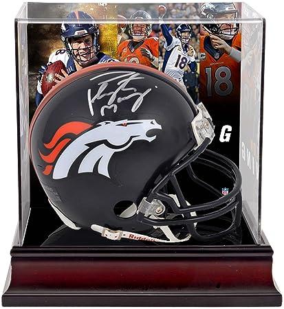 Peyton Manning Denver Broncos Autographed Riddell Mini Helmet with Deluxe  Mini Helmet Case - Fanatics Authentic e6557d3f0