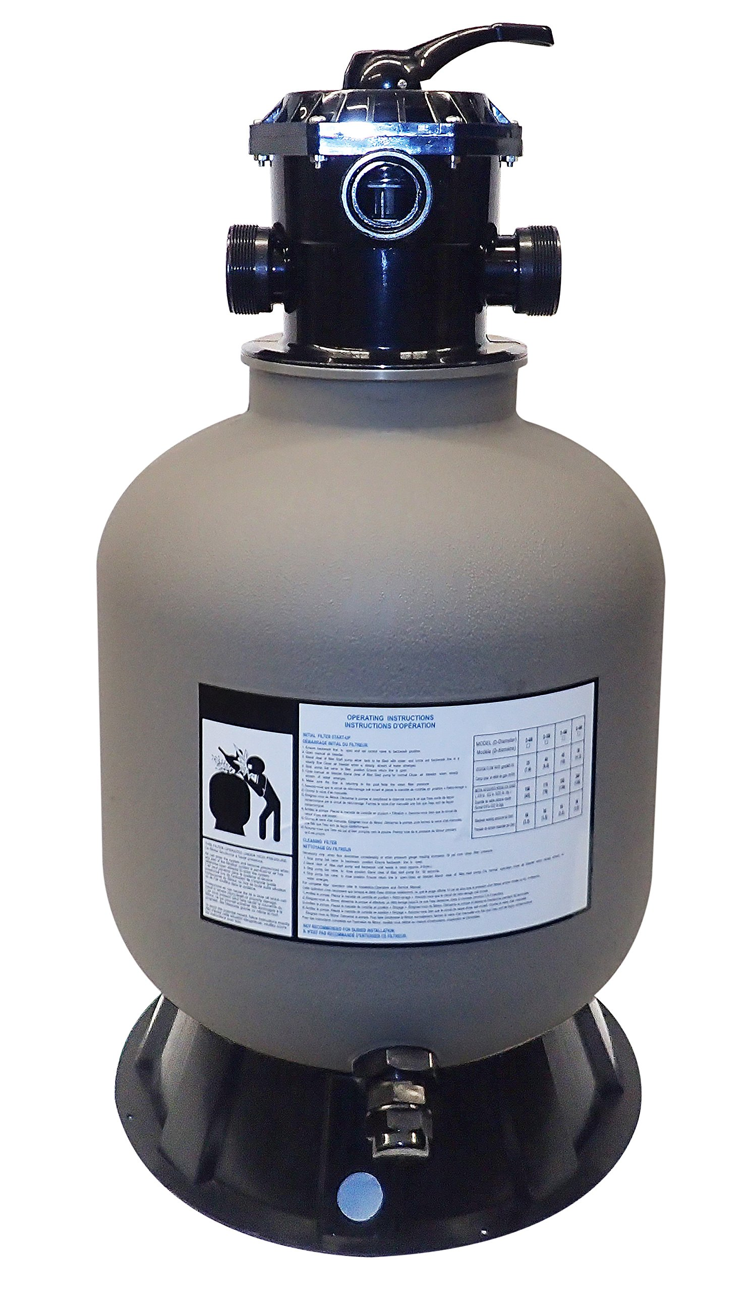 Swimline Pool Sand Filter with Valve/Base, 16'' by Swimline