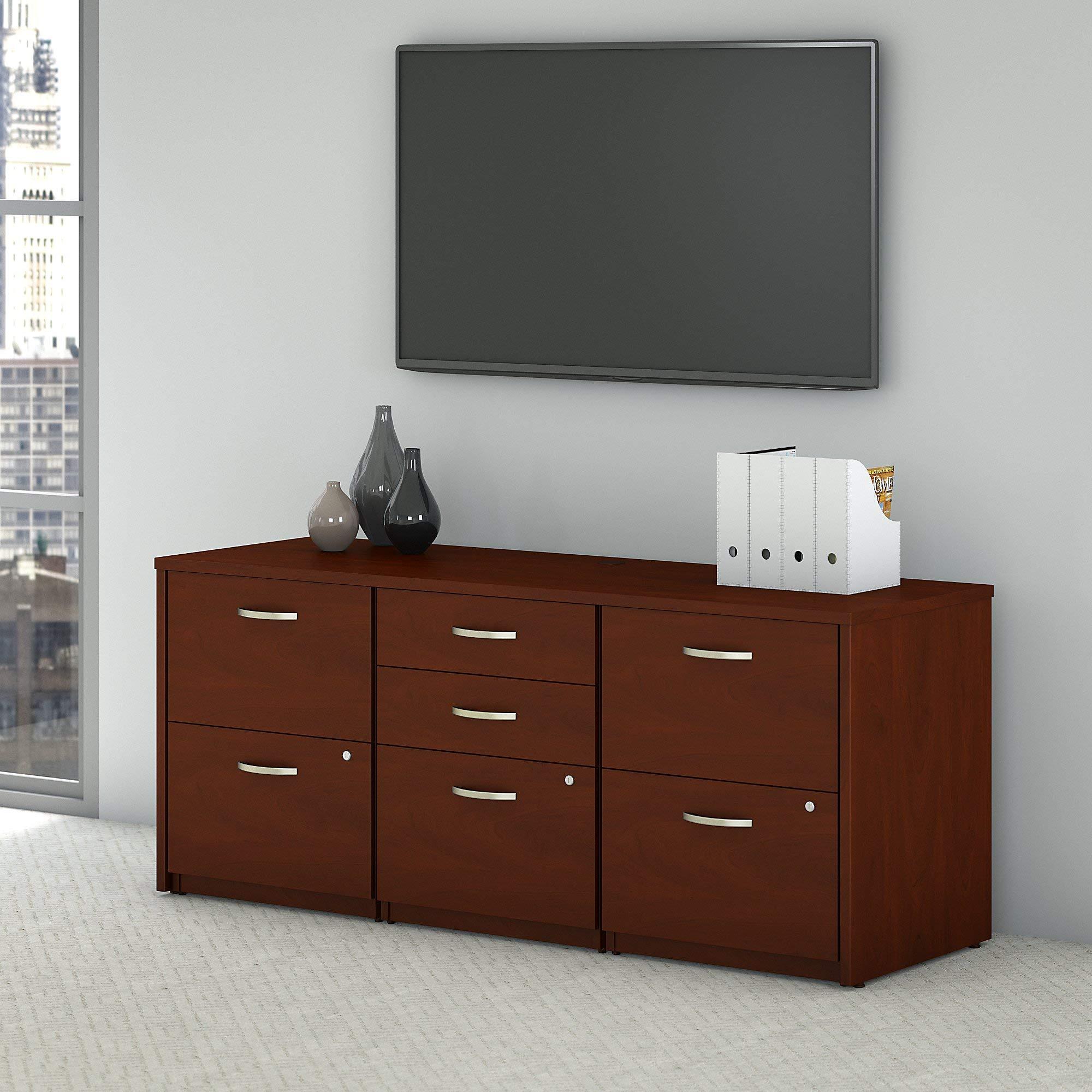 Bush Business Furniture Series C Elite Storage Credenza, Hansen Cherry by Bush Business Furniture (Image #2)