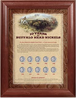 product image for American Coin Treasures 157 10 Years of Buffalo Nickels - Wood Frame