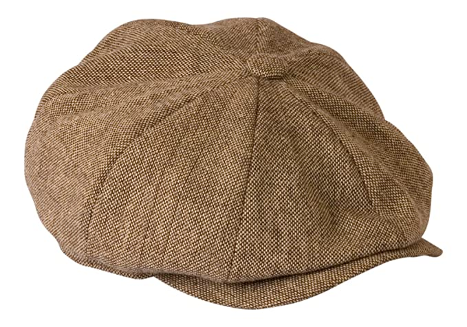 1930s Mens Hat Fashion Gamble & Gunn Shelby Oatmeal Brown Tweed Lightweight Summer Cloth Cap £22.49 AT vintagedancer.com