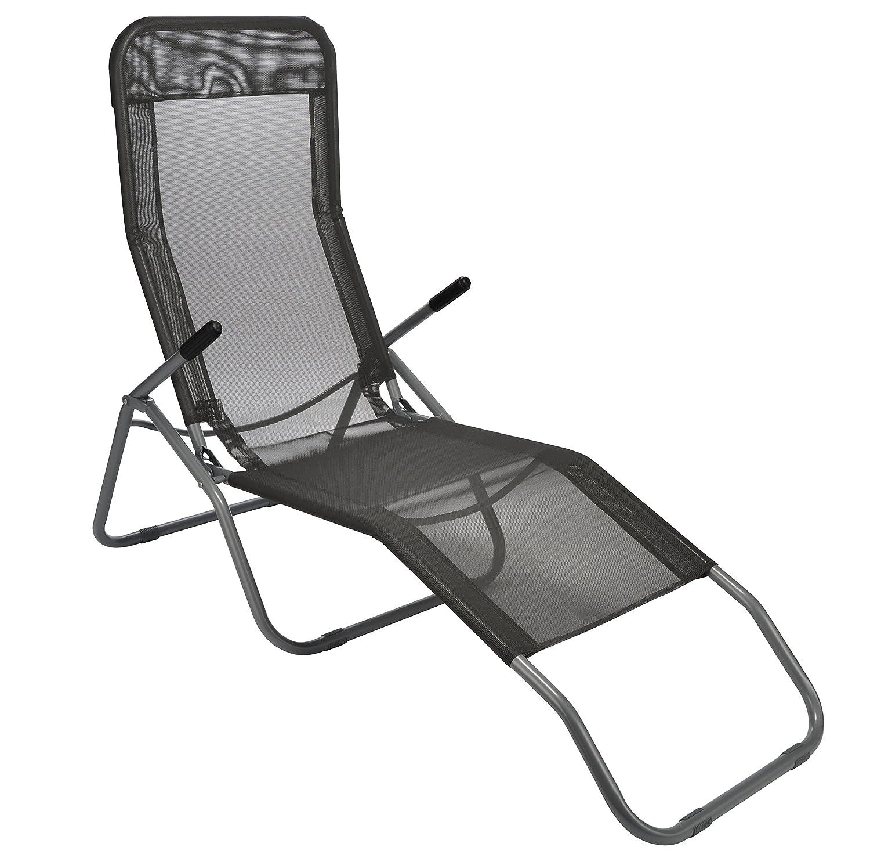 liege sonnenliege schwarz transparent saunaliege mit weichem stoffbezug premium relaxliege. Black Bedroom Furniture Sets. Home Design Ideas