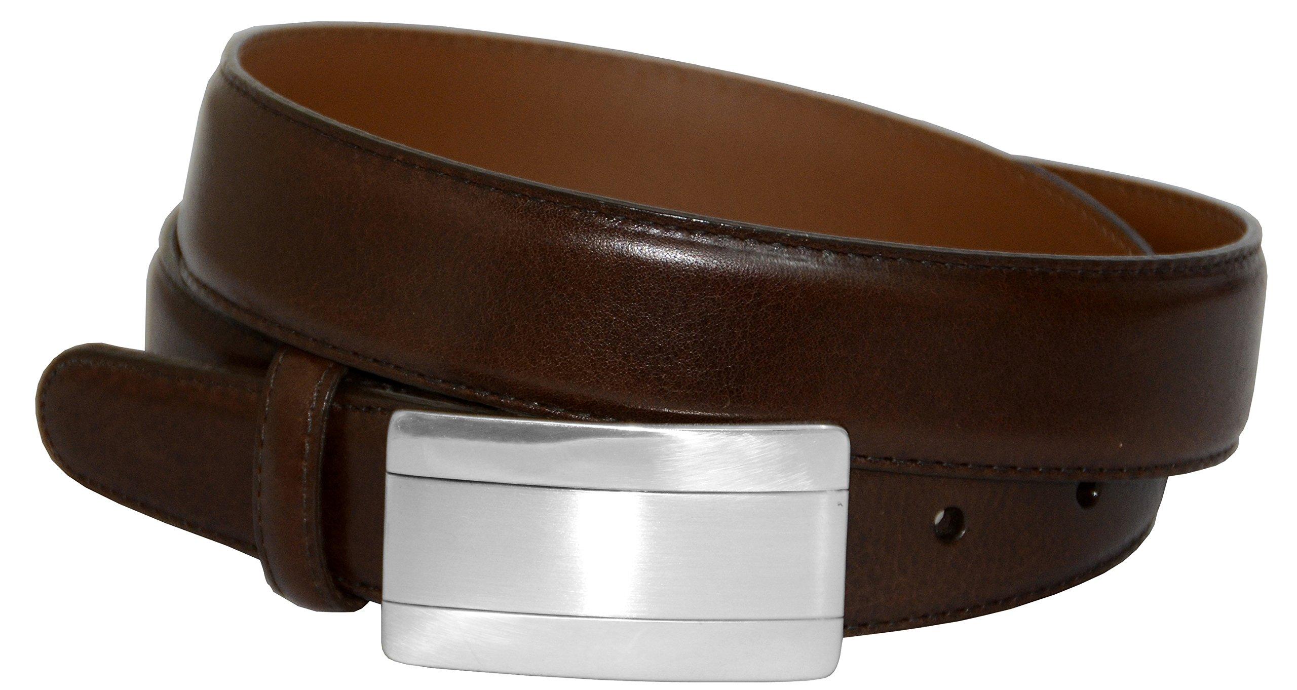 Brighton Big and Tall Spyglass Plaque Belt (Brown 40)