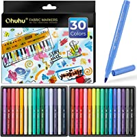 Fabric Markers Pen, Ohuhu 30 Colors Permanent Fabric Paint Marker Pens for DIY Costumes, T-Shirt, Clothes, Shoes, Bags…