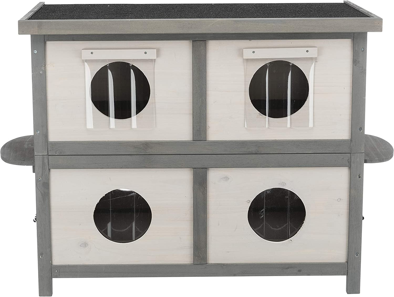 Trixie Natura Cat Home for Multiple Cats, Light Gray/Gray, Model Number: 44117