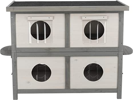 Trixie Natura Cat Home For Multiple Cats Light Gray Gray Model Number 44117 Pet Supplies