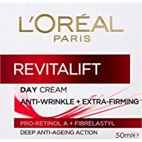 L'Oréal Paris Revitalift Anti-Ageing Day Moisturiser, with Pro Retinol, Dermatologically Tested, 50ml