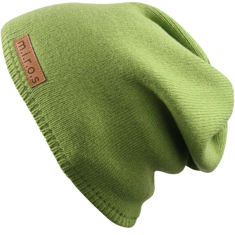 Damen Long Beanie Mütze Nicky Schwarz handgemachte Wintermütze von m.i.r.o.s