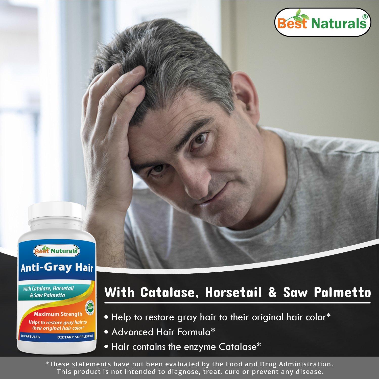 Best Naturals Anti Gray Hair Formula, 60 Count