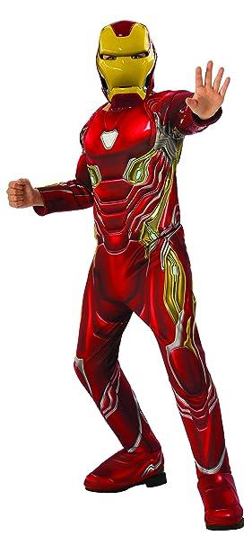 Avengers - Disfraz oficial de Iron Man Deluxe para niños, Infinity War, 5-7 años (641056-M)
