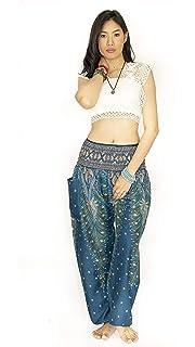 Women Shorts Elastic Waistband Light Soft Fabric Orange Scene Print Beach Thai Online Shop Women's Clothing Clothing, Shoes & Accessories