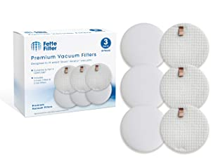 Fette Filter - Vacuum Filter Compatible with Shark Rotator Slim-Light Lift-Away NV341 & NV341Q. Compare to Part # 1229FC340 (3 Foam & 3 Felt Filters)