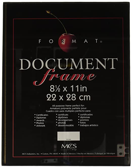 Amazoncom Mcs 8 12x11 Format Frame Black 6 Pack