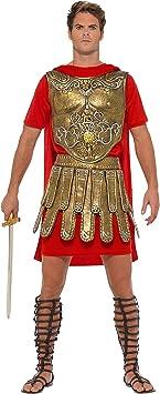 Smiffys 40377M Disfraz de Gladiador Romano, Hombre, Dorado/Rojo ...
