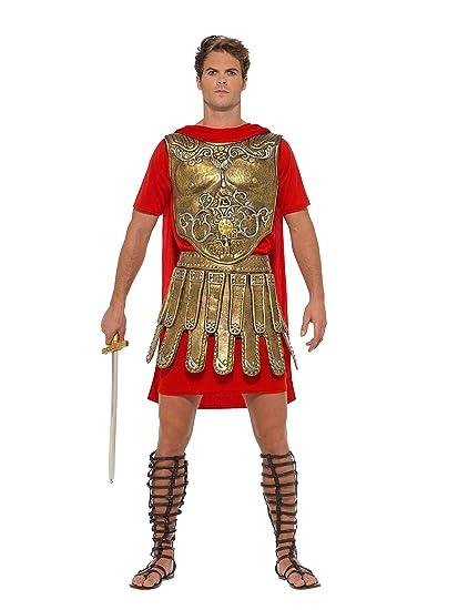 Smiffy s 40377l economía gladiador romano disfraz, para hombre, oro/rojo, grande, 42 – 44-inch