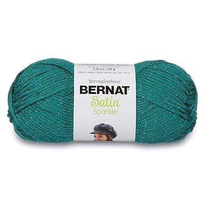 Amazoncom Bernat Satin Sparkle Yarn 28 Ounce Emerald Single