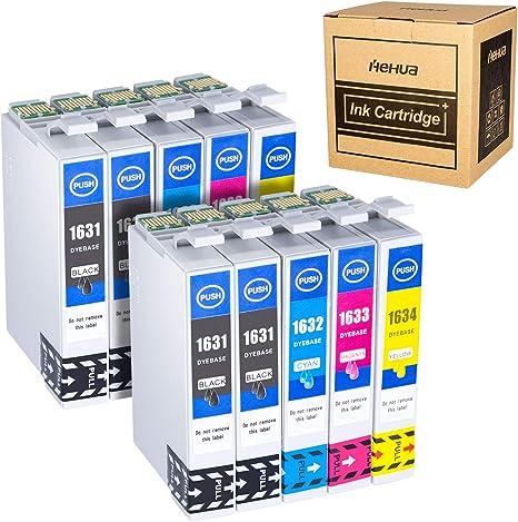 Hehua 16XL Compatible Cartuchos de Tinta para Epson 16 16XL ...