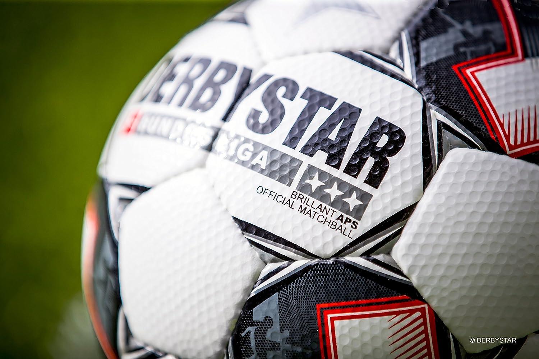 5 Derby Star Brilliant Football Ball/ /White//Black//Red