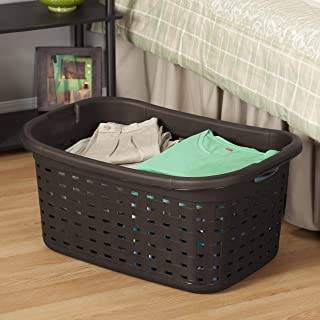 product image for Sterilite 12756P06 Weave Laundry Basket, Espresso, 6-Pack