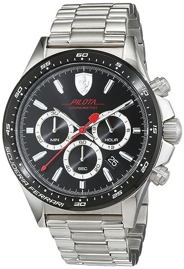 Ferrari 0830393 Pilota Cronometro - Reloj de pulsera con diseño de la escudería Ferrari: Amazon.es: Relojes