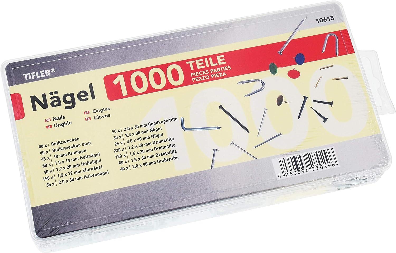 30 N/ägel Bildern/ägel verschiedene Gr/ö/ßen schwarz je 10x 20mm // 30mm // 40mm Stahlbildern/ägel