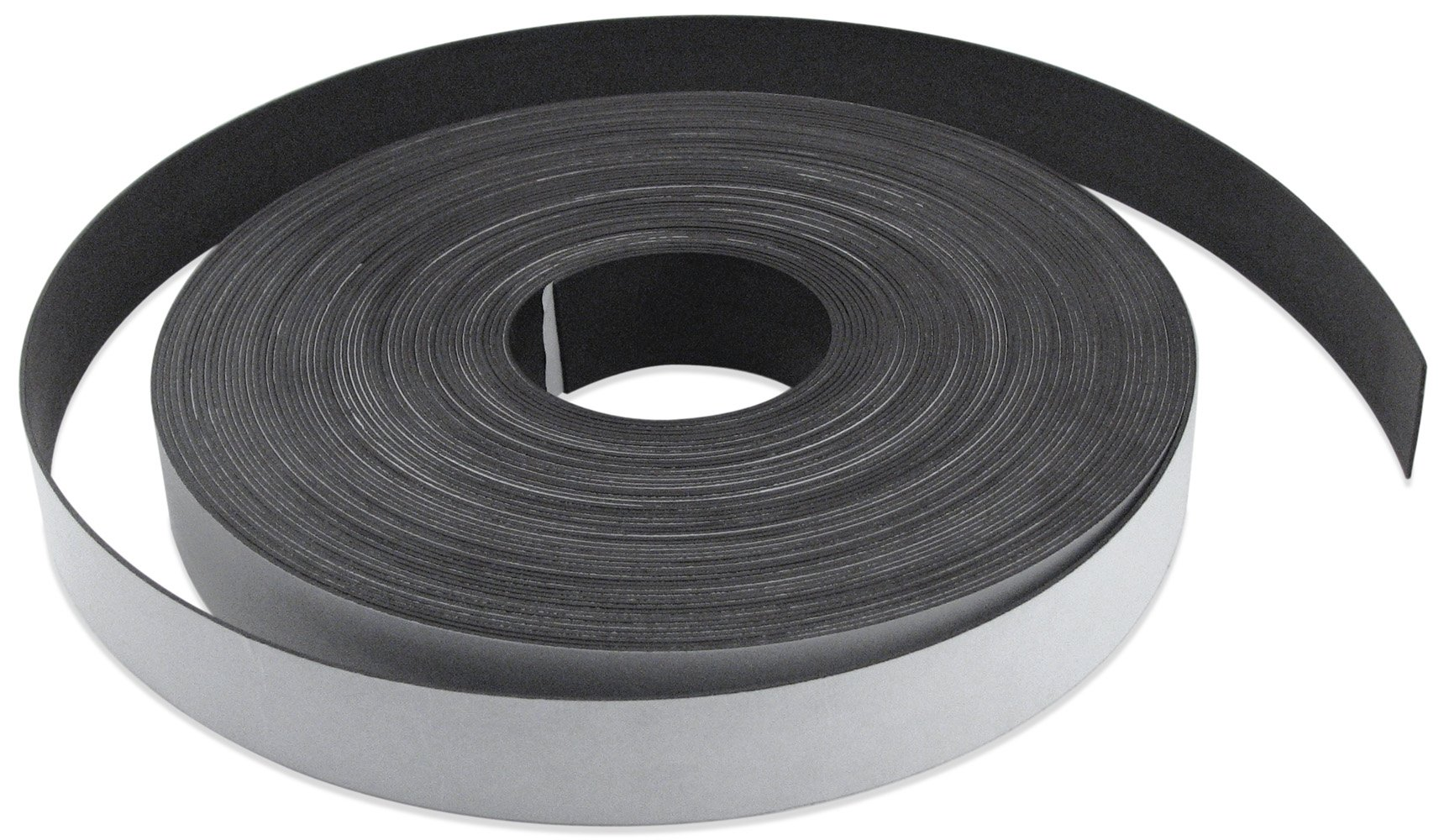 Flexible Magnet Strip with White Vinyl Coating, 1/32'' Thick, 3'' Height, 200 Feet, 1 Roll
