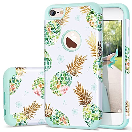 Fingic iPhone 6s Case, iPhone 6 Case Pineapple, Shiny Slim Pineapple Design Summer Case Hard PC Soft Rubber Anti-Scratch Shock Proof Protective Case ...