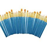 Miniature Paint Brushes Set 6 Pack by heartybay, Nylon Hair Brush Sets Acrylic Blue Round Pointed Paints Bristle for…