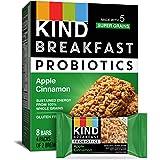 KIND Breakfast Probiotic Bars, Apple Cinnamon, 32 Count