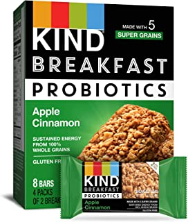 product image for KIND Breakfast Probiotic Bars, Apple Cinnamon, 1.76 Ounce (Pack of 32)