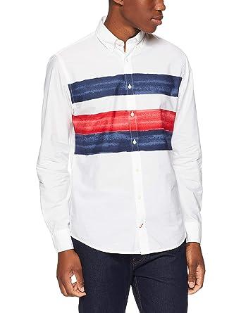 2c3ef95b74ffd9 Tommy Hilfiger Men s Watercolour Stripe Shirt  Amazon.com.au  Fashion