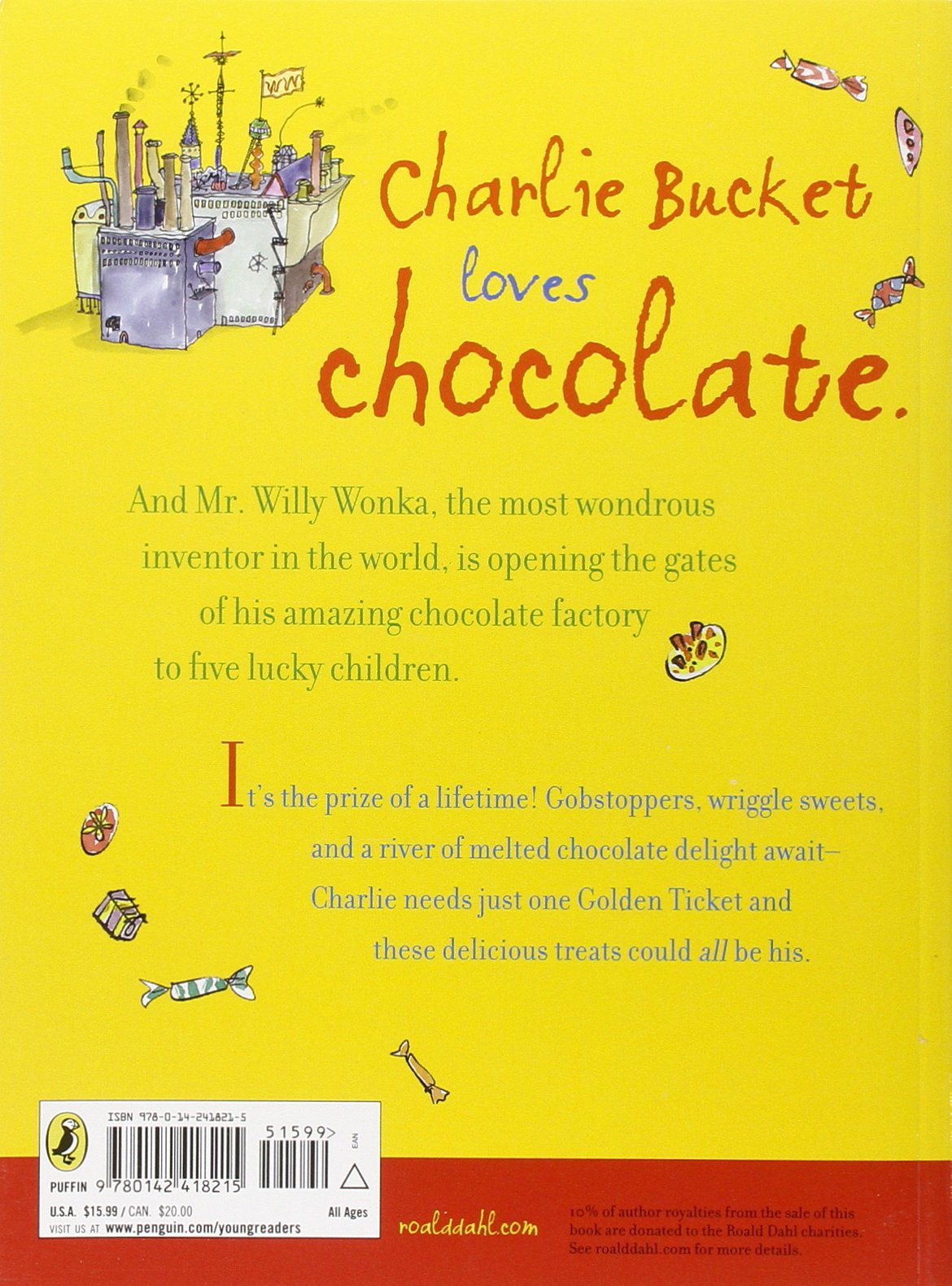 charlie and the chocolate factory puffin modern classics roald