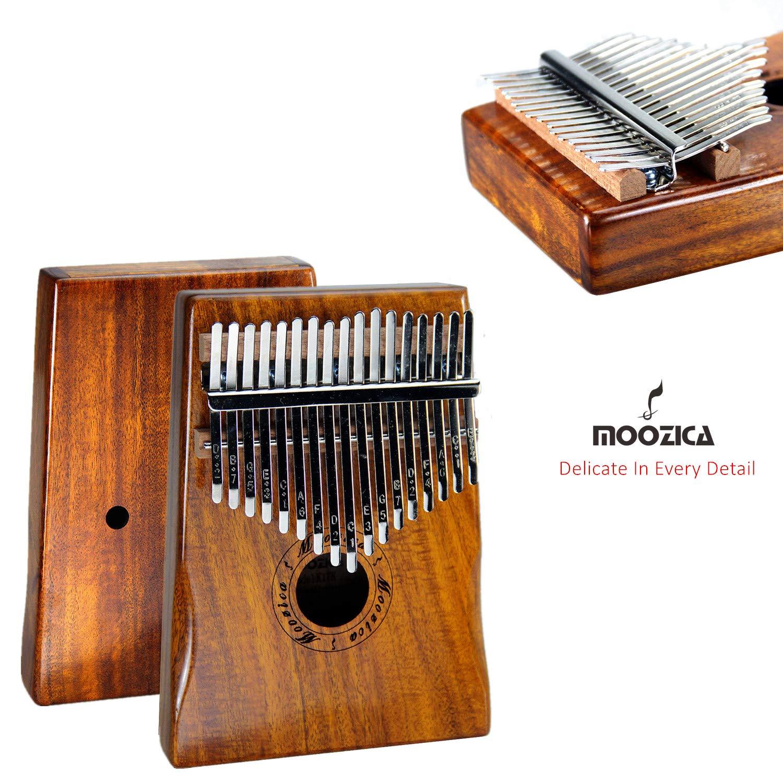 Moozica 17 Keys Kalimba Marimba, Professional Thumb Piano Sanza Mbira Musical Instrument Gift (Koa - K17K) by Moozica (Image #3)