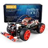 SunFounder Raspberry Pi Smart Robot Car Kit - PiCar-S Block Based Graphical Visual Programming Language Line Following Ultrasonic Sensor Light Following Module Electronic Toy with Detail Manual