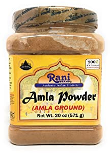 Rani Amla Powder (Indian Gooseberry) PET Jar, 20oz (1lb 4oz) ~ All Natural, Indian Origin | No Color | Gluten Free Ingredients | Vegan | NON-GMO | No Salt or fillers