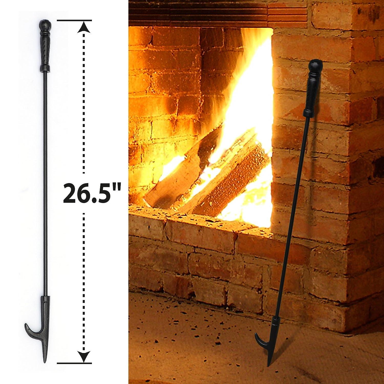 BenefitUSA New Campfire Fireplace Fire Poker Tool Extra Long 26.5