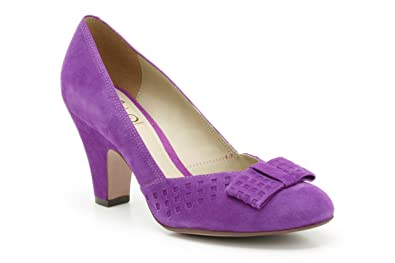 Suede Clarks Bowes Womens Smart In Shoes Palace Purple SVUMzp