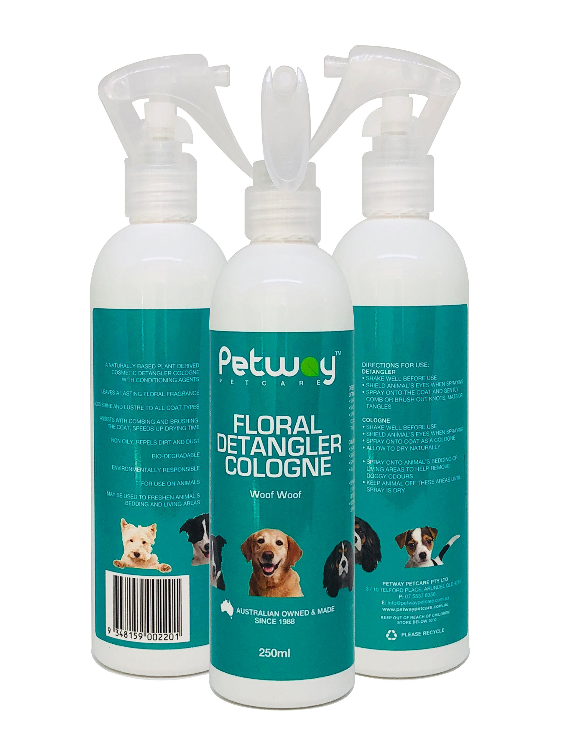 PETWAY Petcare Floral Detangler Cologne – Pet Cologne, Detangling and Dematting Spray with Deodorizing and Conditioning Qualities – Dog Grooming Detangler Conditioner Spray - 250ml by PETWAY (Image #2)