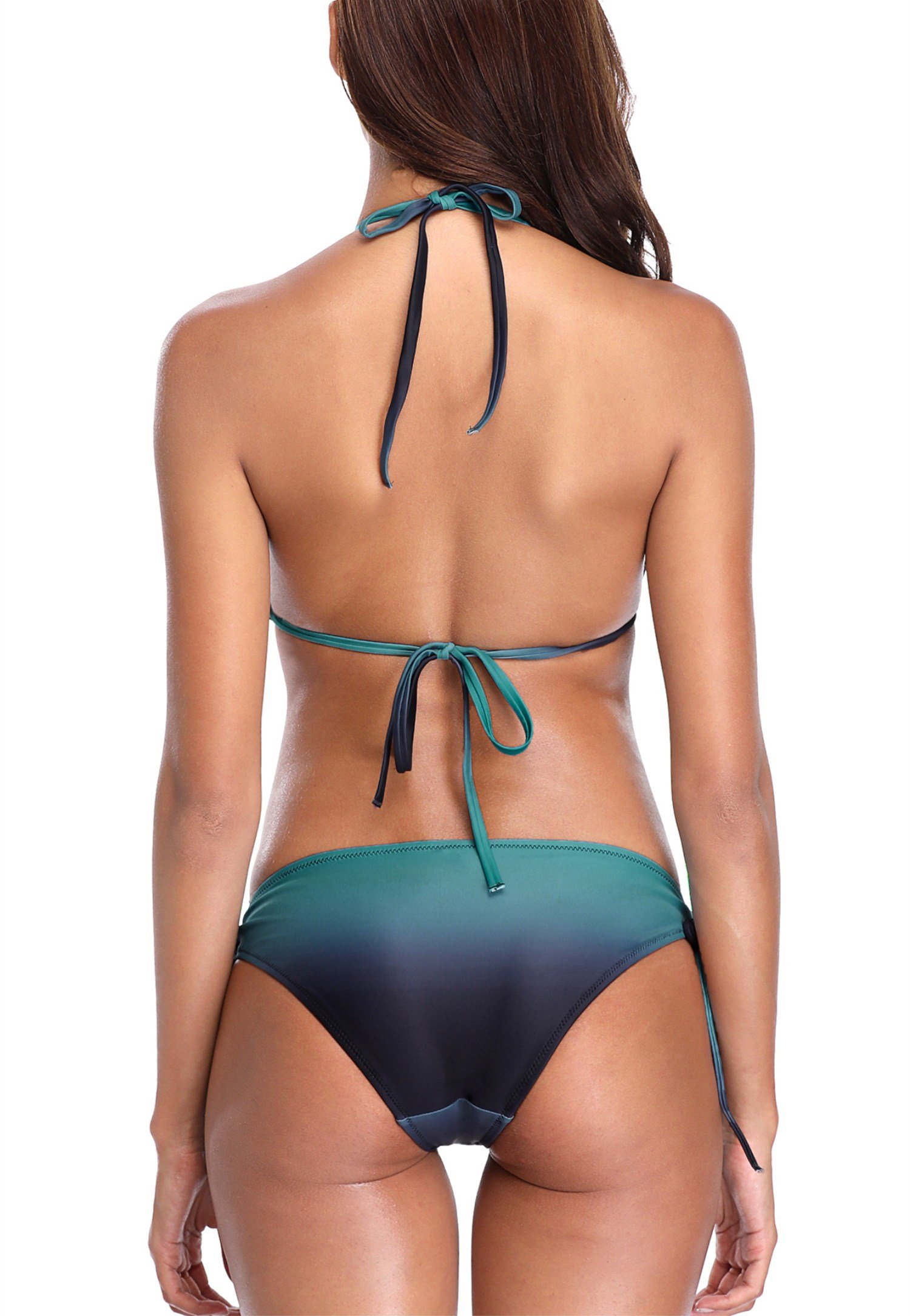 Charmleaks ladies two piece bikini bathing suit halter swimsuit green medium by CharmLeaks (Image #3)