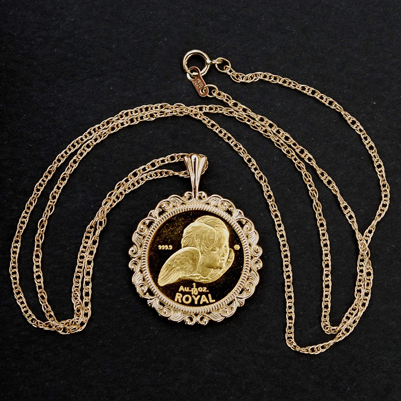 7c7566c0bb592 Amazon.com: Gibraltar 1999 GOLD 1/10 Oz. Cherub Angel Proof-like ...