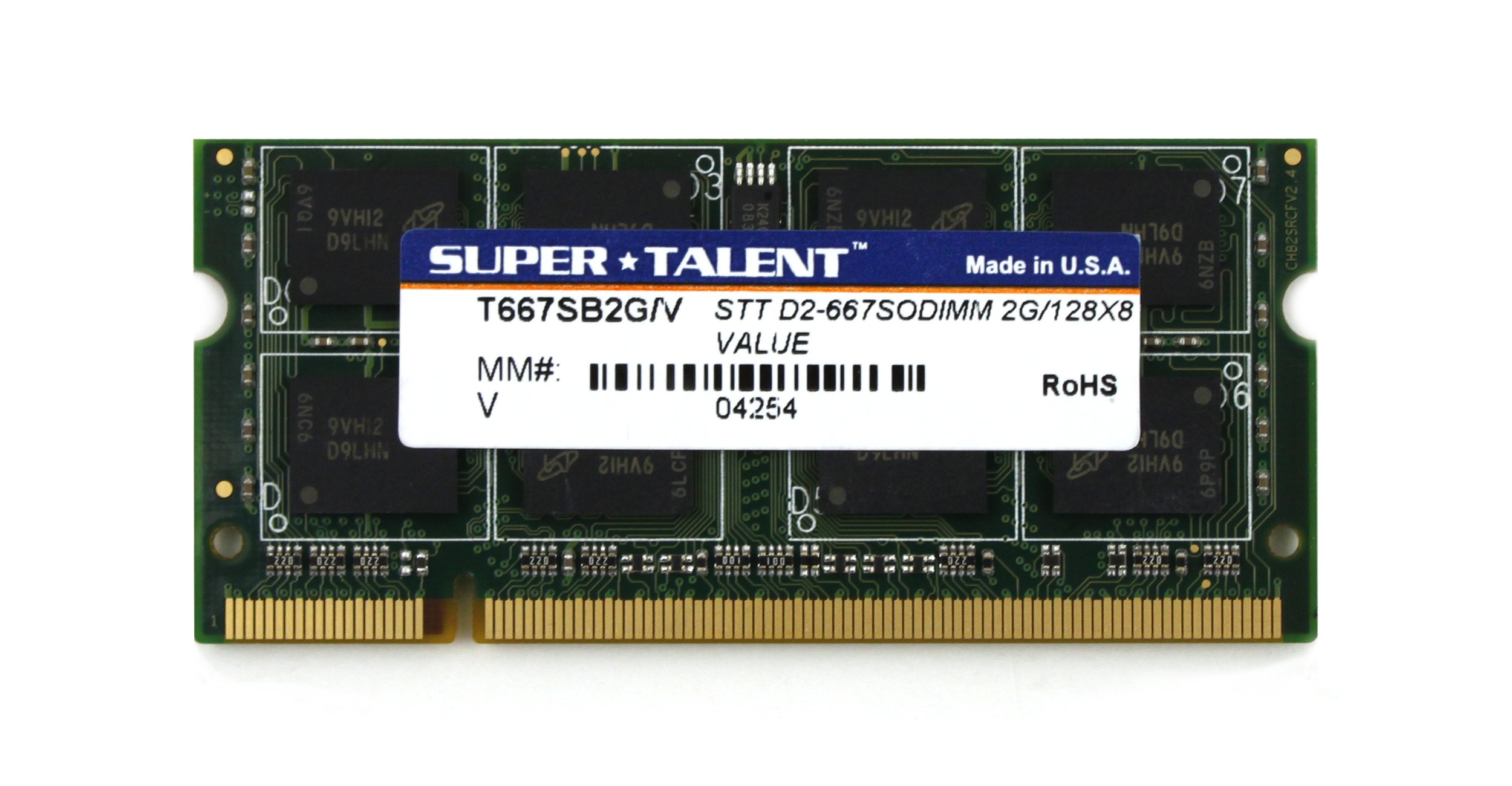 Memoria Ram 2GB DDR2 667MHZ PC2-5300 SODIMM SUPER TALENT