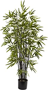 Nearly Natural 5417 Black Bamboo Tree, 4-Feet, Green