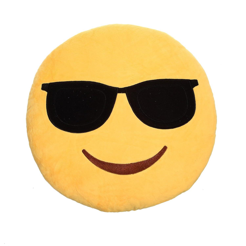 Cojín en forma de emoticono / emoji, XXL, aprox. 35 x 35 cm ...