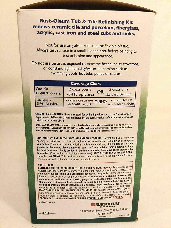 Amazon.com : Rustoleum Tub And Tile Refinishing Kit Epoxy Acrylic Porcelain Formula : Everything Else